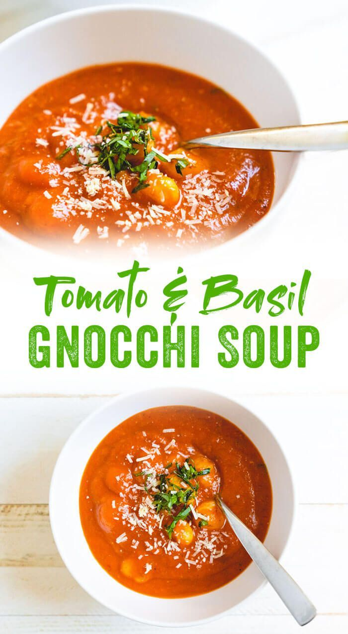 Tomato Basil Gnocchi Soup Recipe – A Couple Cooks