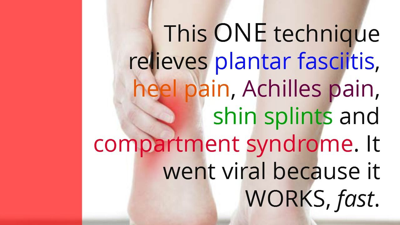 Learn the ONE Stretch That Relieves Plantar Fasciitis Shin Splints