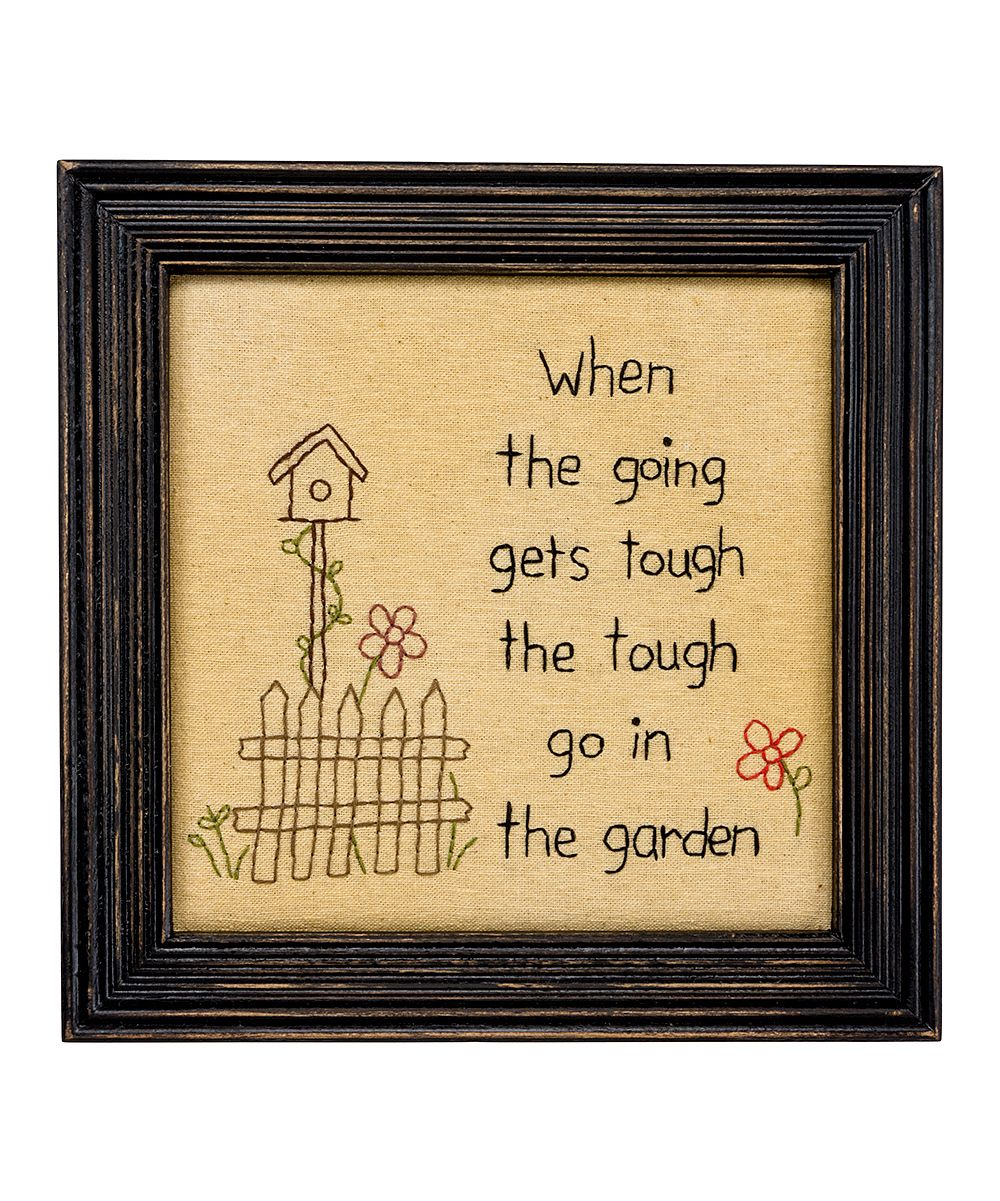 Enjoy the old-fashioned charm and humor of this stitched wall art ...