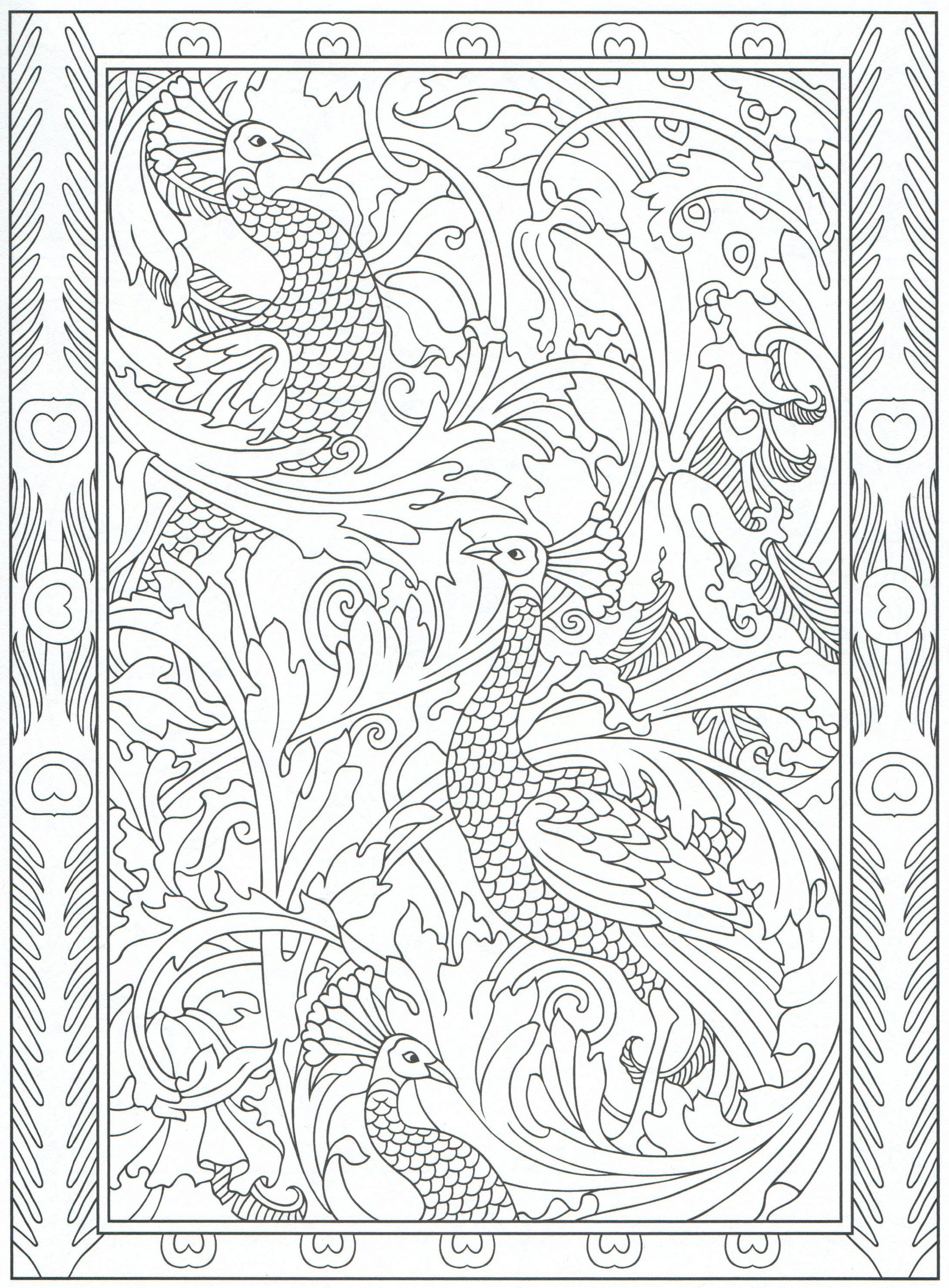 Peacock coloring page for adults 531 Color pages Stencils