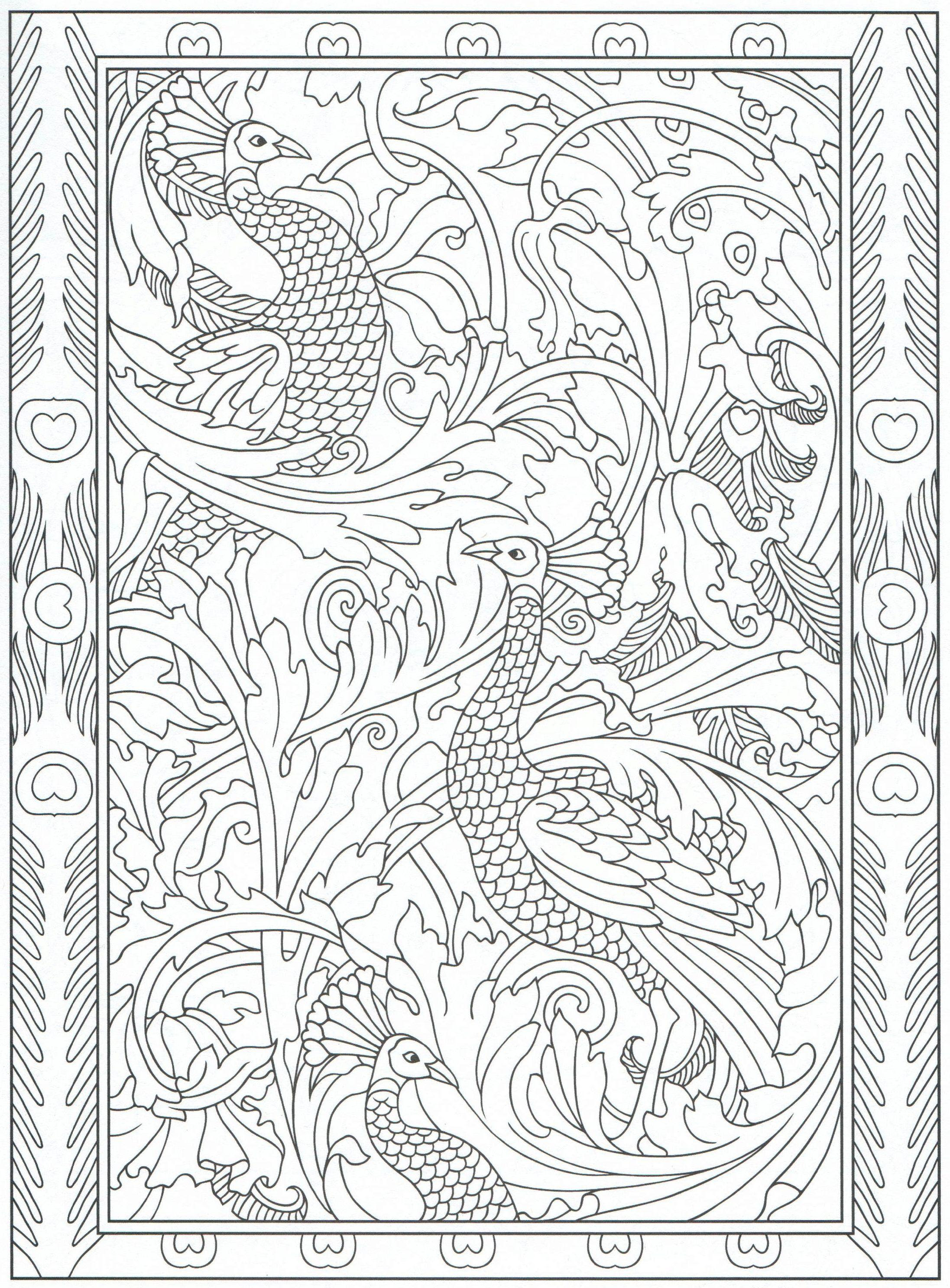 Peacock coloring page, for adults 5/31 | KOLOROWANKI | Pinterest ...