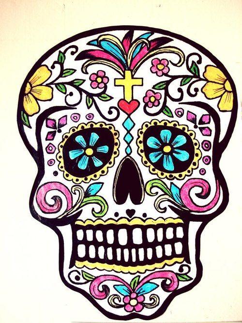 Mexican Sugar Skull Art | Crazy About You | Sugar skull ...