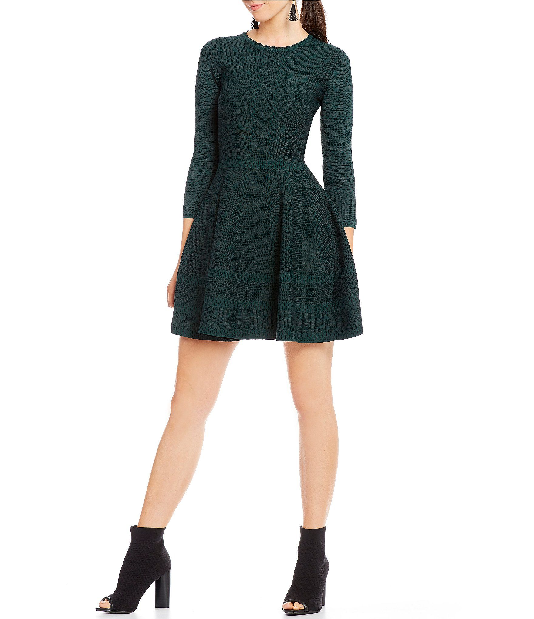 51430bba07e Shop for Gianni Bini Fan Fav Tracy Skater Sweater Dress at Dillards.com.  Visit Dillards.com to find clothing