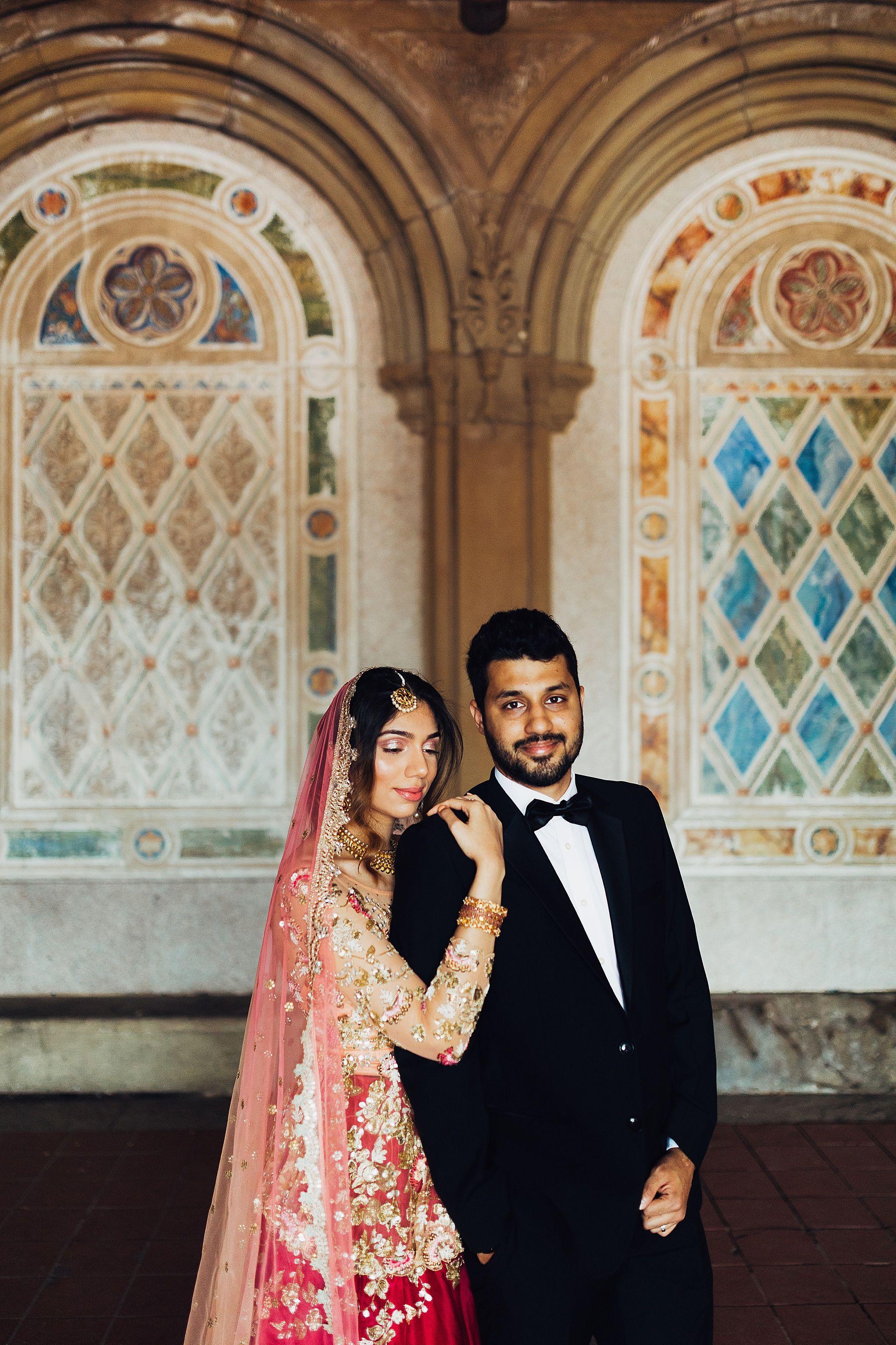 Jamal Sanah Nyc Central Park Indian Wedding Wedding Photography Bride Indian Wedding Photographer Indian Wedding Couple
