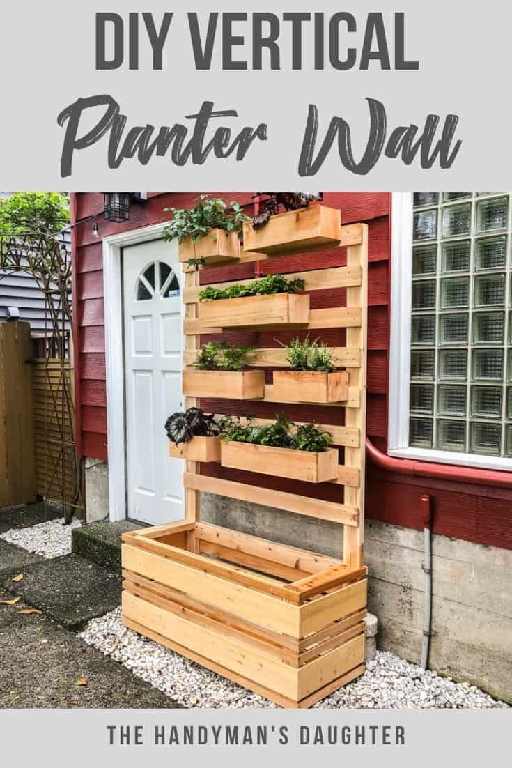 Diy Vertical Garden Wall Planter With Plans Vertical 400 x 300