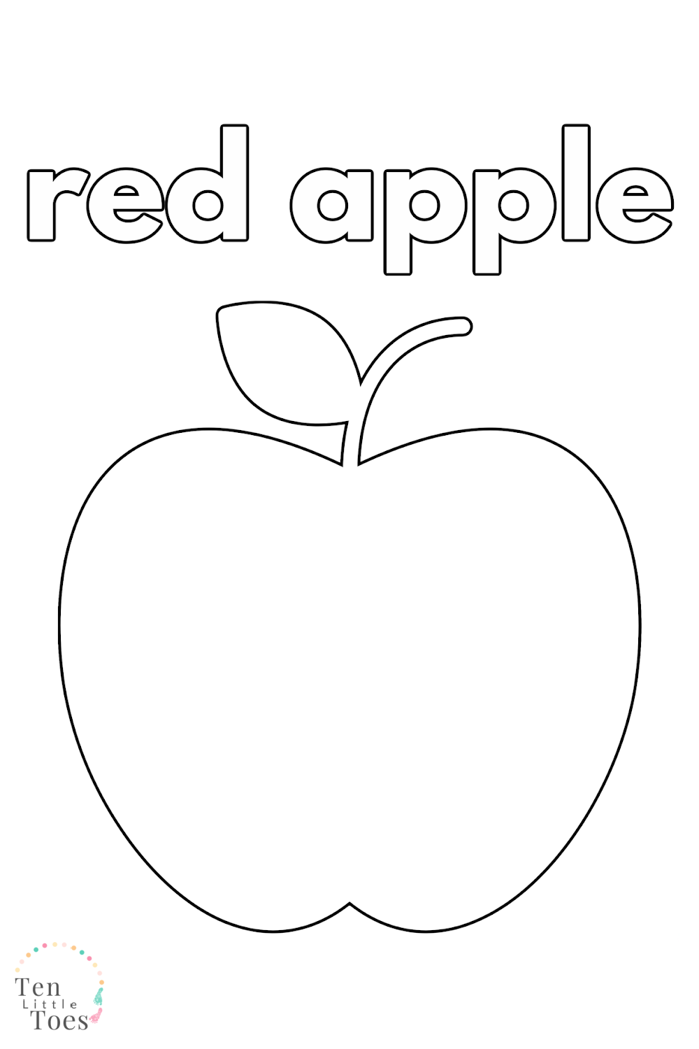 Apple Colouring In Pages Apple Coloring Pages Apple Coloring Toddler Arts And Crafts