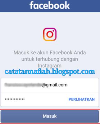 instagram masuk dengan fb