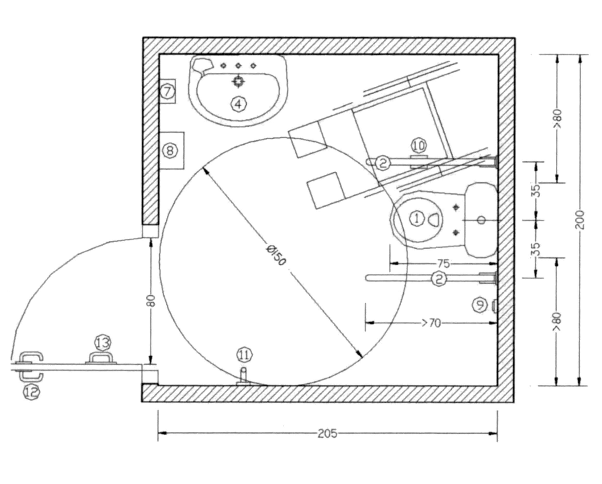 Accesibilidad integral y construcción de baños adaptados  Planos
