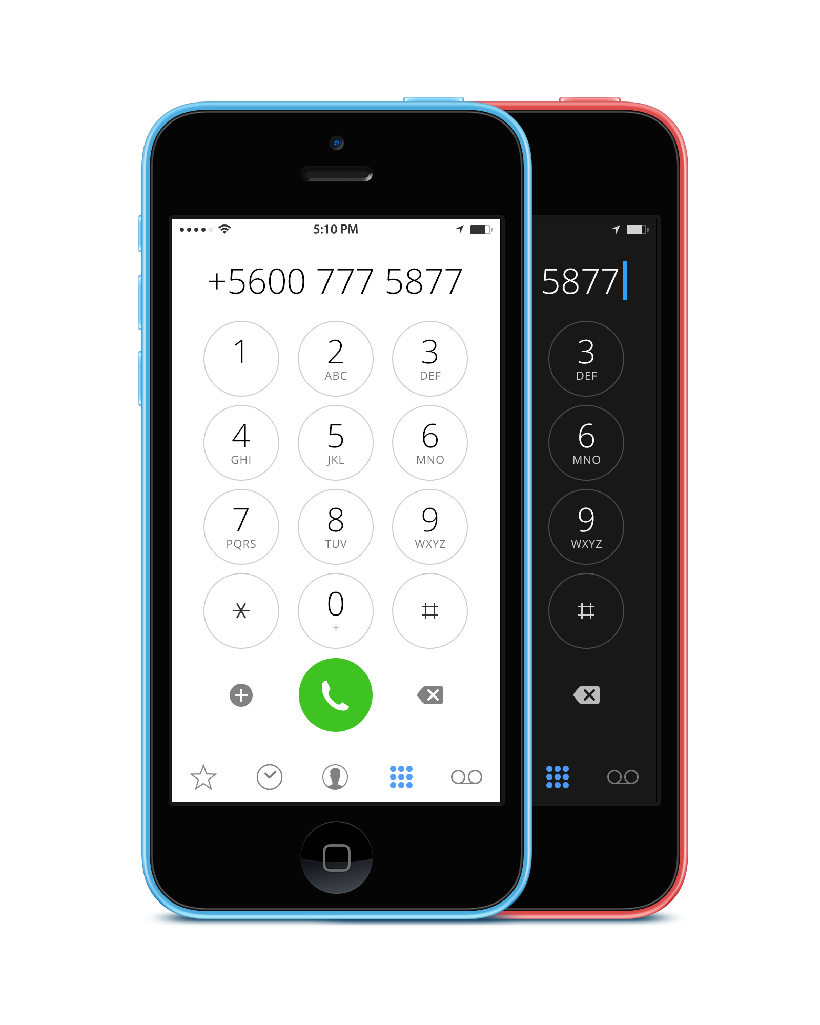 alt Version of new IOS dialer | ux ui Dashboards | New ios