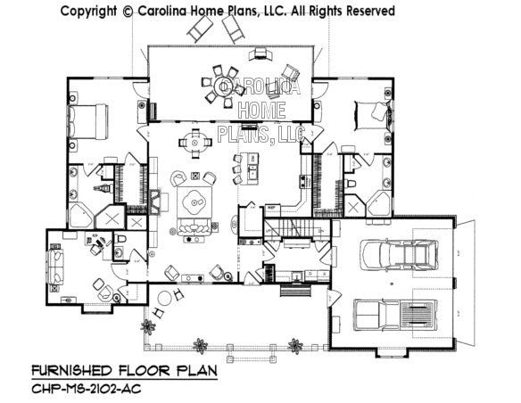 Ms 2102 Ac Furnished Main Floor Plan Floor Plans Open Floor House Plans Little House Plans