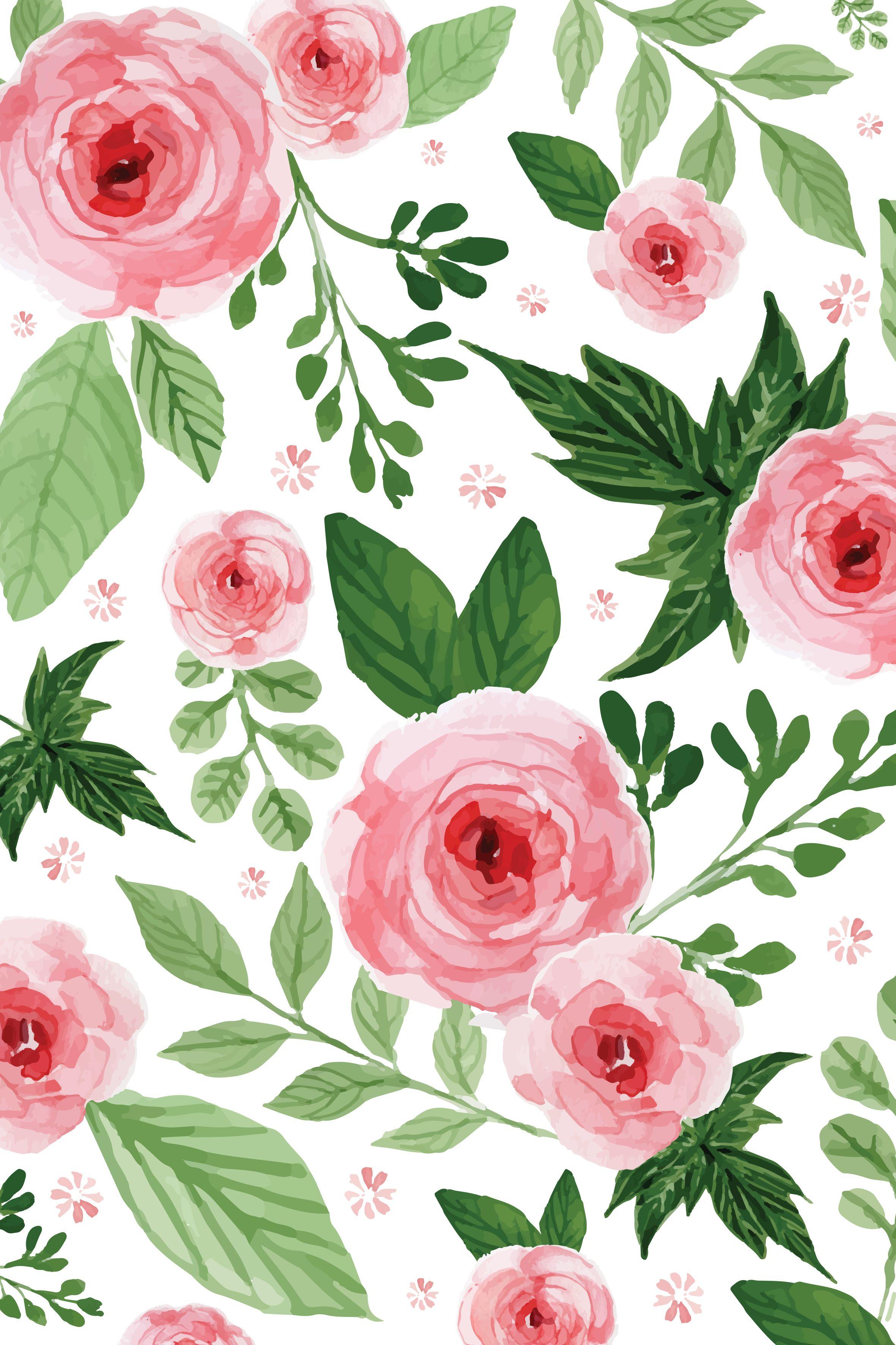 Flowers Flower background wallpaper, Flower drawing