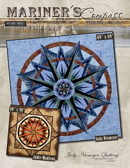 Mariners Compass - Available from Quiltworx.com - A Judy Niemeyer Quilting Company. Shop for more patterns and quilting supplies on store.quiltworx.com
