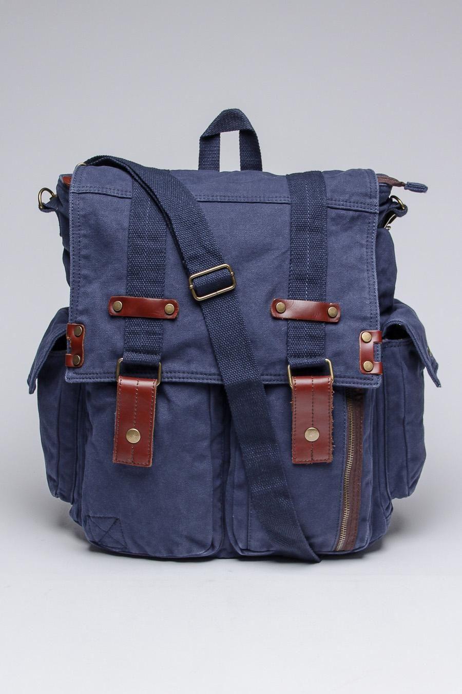 J. Campbell Washed Canvas Backpack/Messenger