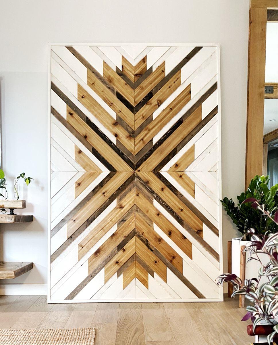 Custom Wood Wall Art Wood Wall Art Mosaic Wall Art Living Room Decor Modern