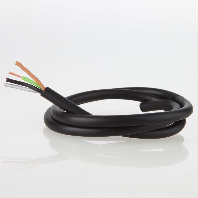 Pvc Lampenkabel Schwarz 4 Adrig 4x0 75mma H03 Vv F 1 61 A Kabel Lampe Schaltkreis