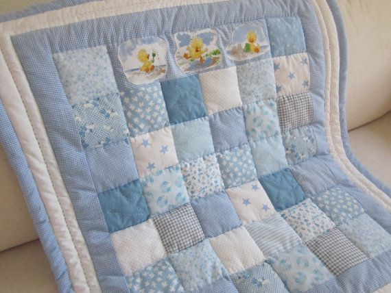 Handmade baby patchwork cot quilt throw by AnneLiseQuilts ... : patchwork cot quilt patterns - Adamdwight.com