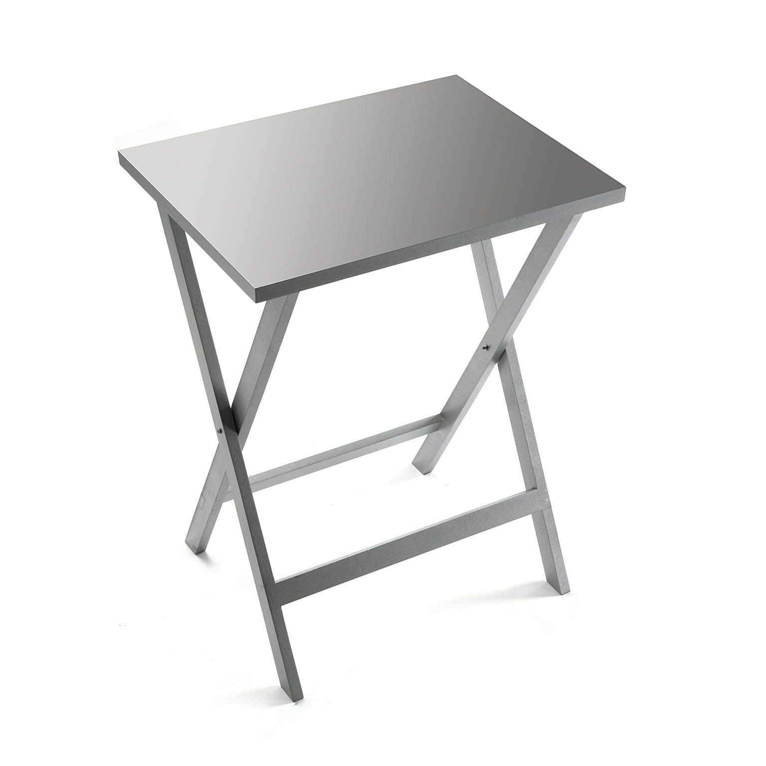 Mesa auxiliar plegable plata mesa auxiliar casa versa - Mesa auxiliar plegable ...