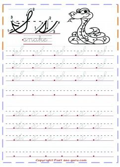 Free Printables Cursive Handwriting Tracing Worksheets Letter S For Snake Cursive Handwriting Practice Cursive Handwriting Worksheets Cursive Practice