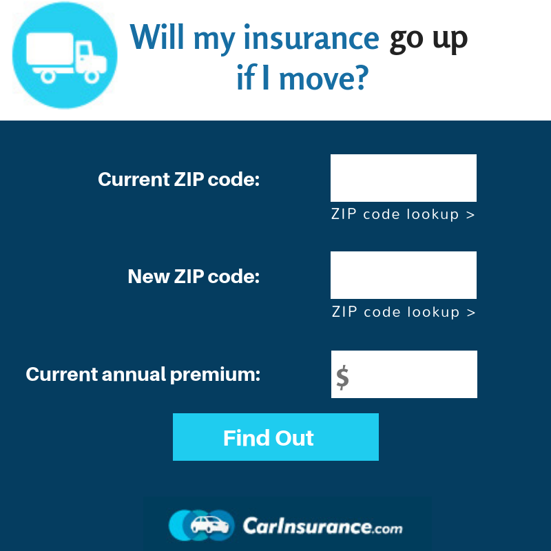 Shifting To Your New Home Will My Insurance Go Up If I Move Calculator Can Help You Prepare For Your New Car Insurance Costs Insurance