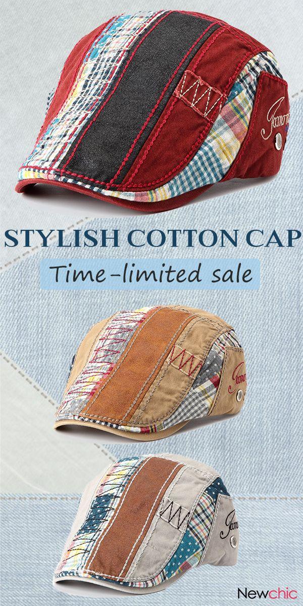 [5 Colors] Cotton Beret Casual Outdoor Cap #women #men #style