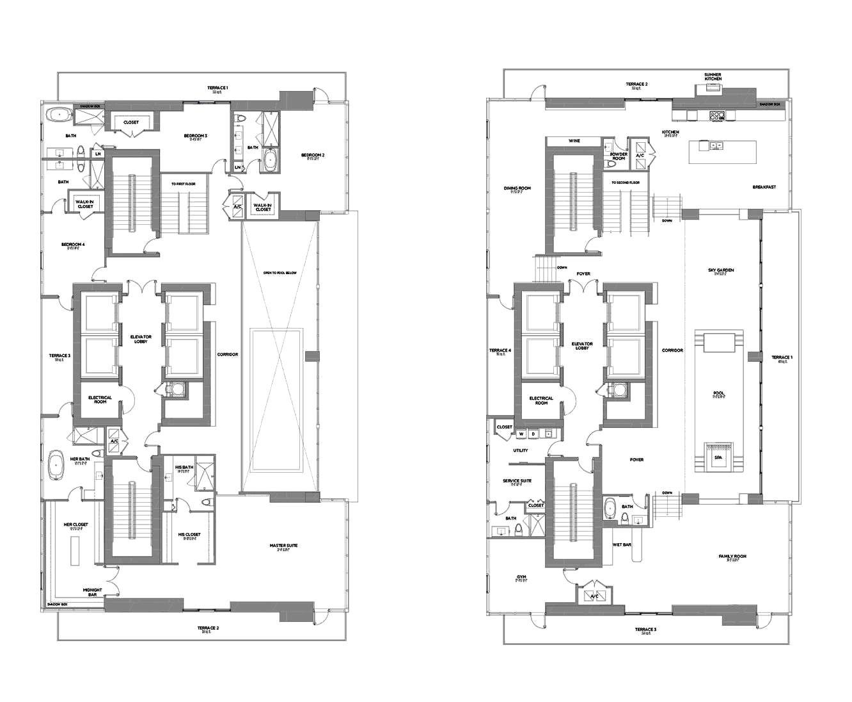 Echo Brickell Carlos Ott Penthouse 13 618 Square Feet Echo Brickell Pent House Brickell Penthouse
