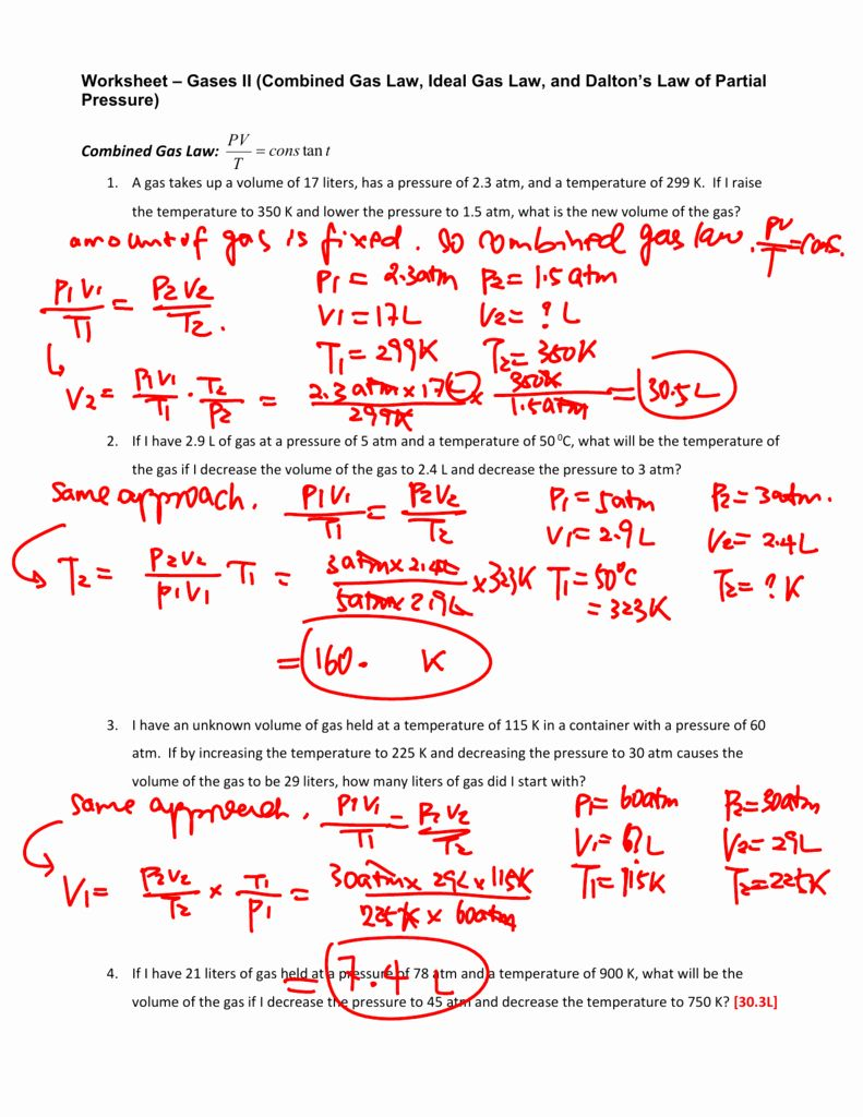 Gas Variables Worksheet Answers Best Of Worksheet Bined Gas Law Worksheet Answers Worksheet Ideal Gas Law Literal Equations Chemistry Worksheets