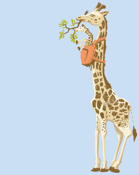 Baby Wearing Giraffe From The Awkward Yeti Facebook 542187 406954779380203 1939728474 N Png 571 716 Giraffe Pictures Giraffe Art Baby Giraffe