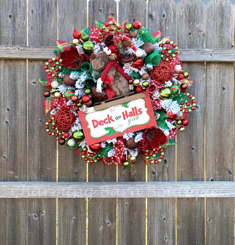 #Christmas #Deck #Decor #Door #extra #Front #halls # ...