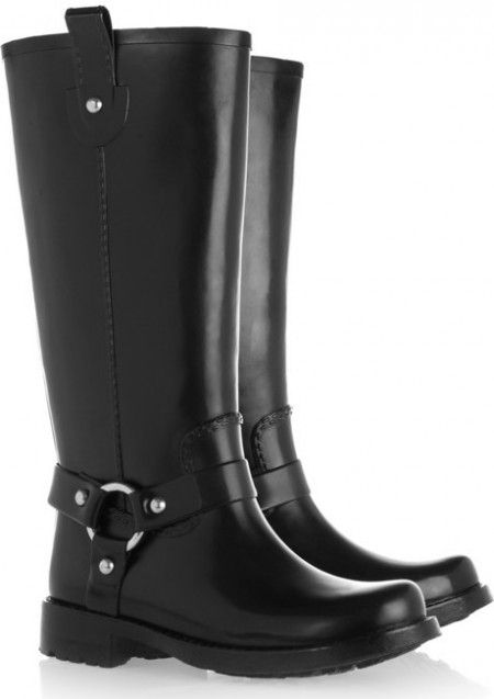 Plain Black Rain Boots - Cr Boot