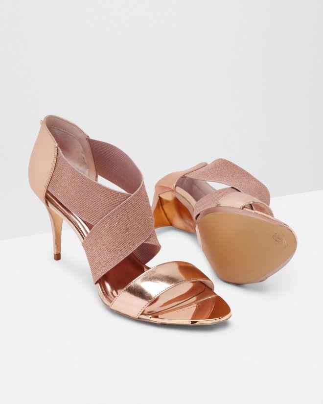 c4293b868 Cross-over strap sandals - Rose Gold