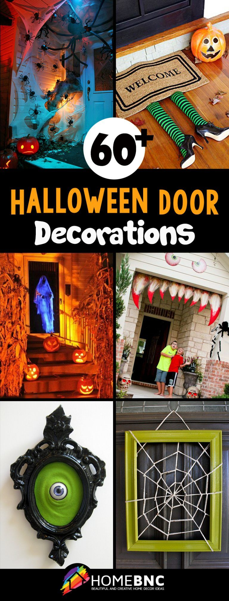Halloween Door Decoration Ideas #halloweendoordecorations