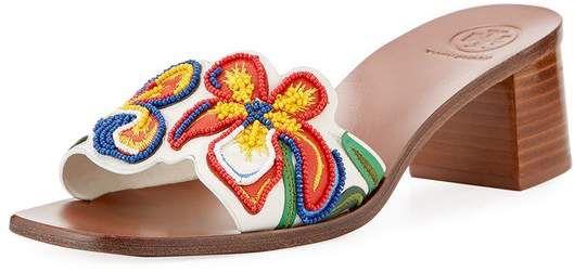 3769e5a0bae5 Tory Burch Tory Burch Bianca Flower Slide Sandal  ad