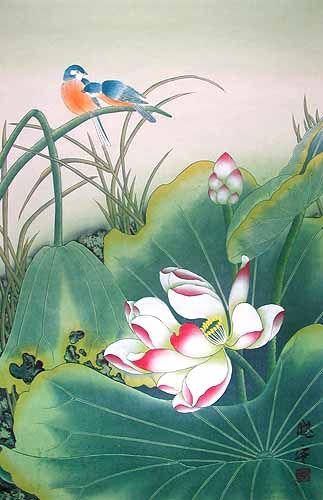 Chinese Flowers Chinese Paintings Chinese Lotus Flower Paintings