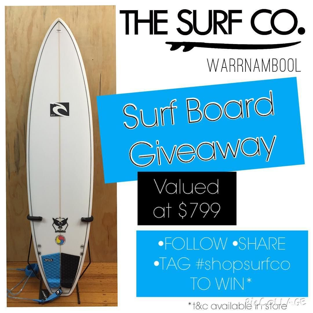 Get around this awesome giveaway @thesurfco WIN THIS BOARD! Follow @thesurfco Share and Tag on your Facebook or Instagram with the hashtag #shopsurfco RIPCURL 7ft MAD Hybrid Surfboard RRP $799 includes tail pad and leg rope.  Come in and check it out in store this weekend! Yeww #shopsurfco #warrnambool #destinationwarrnambool #surfco3280 #surf3280 by thesurfco