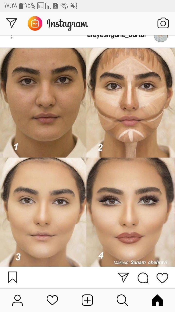 Photo of makeup techniques contouring