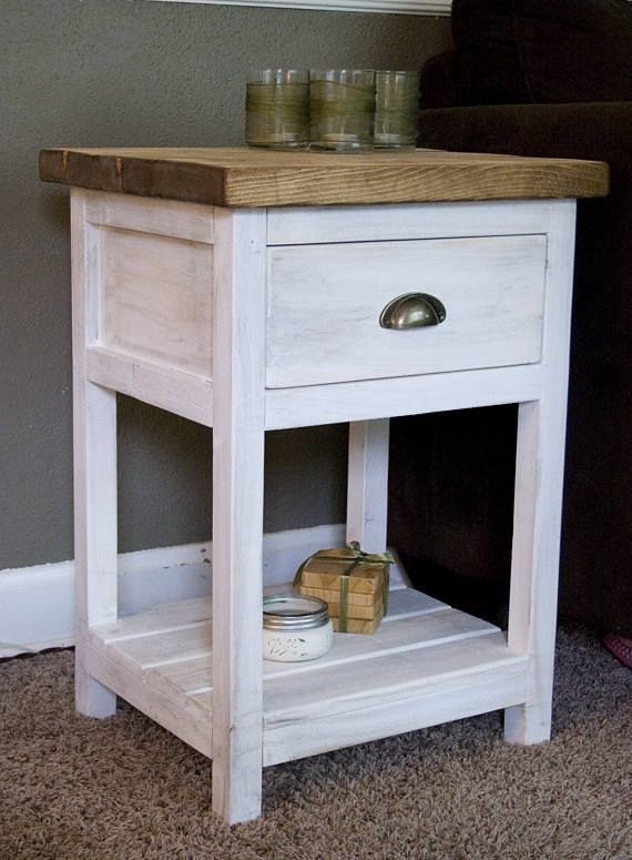 37++ Farmhouse end table with drawer inspiration