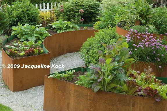 Corten Steel Curved Planter Raised Garden Raised Bed Garden