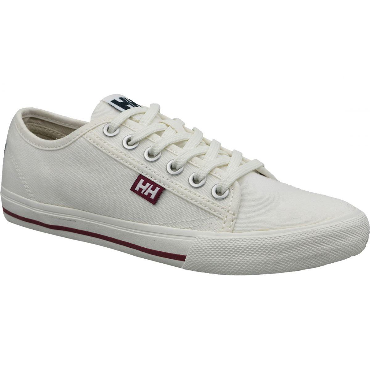 Buty Helly Hansen Fjord Canvas Shoe V2 W 11466 011 Biale Canvas Shoes Slim Fit Boots Women Platform Shoes