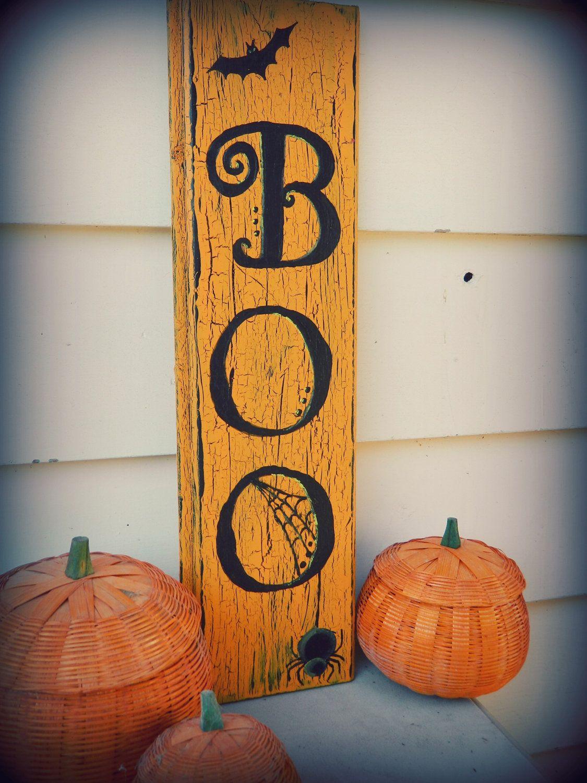 Etsy Halloween Decorations boo+halloween+decor+sign+by+rosalynsanterre10+on+etsy,+$15.00