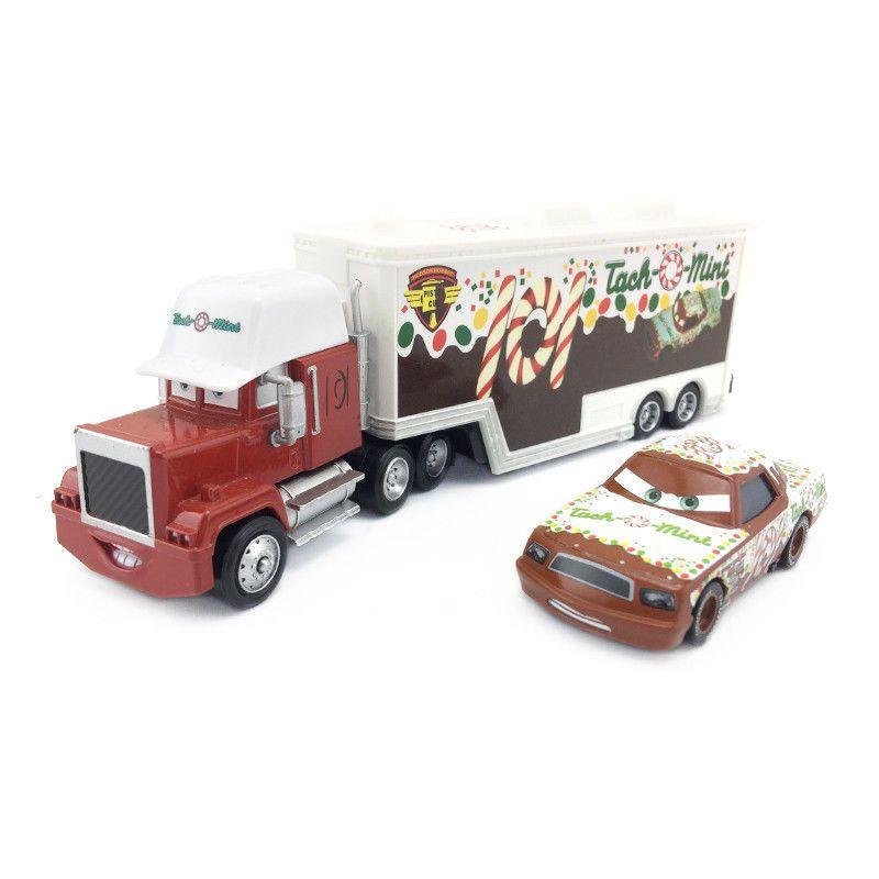 Pixar Cars Mack Racer's Hauler Truck & Racers Metal Toy Car