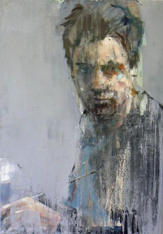 Christos Tsimaris - Untitled 2011 - mixed media on canvas - 116cm x 81cm