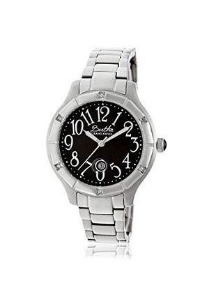 Bertha Women's BR4802 Jaclyn Silver/Black Stainless Steel Watch