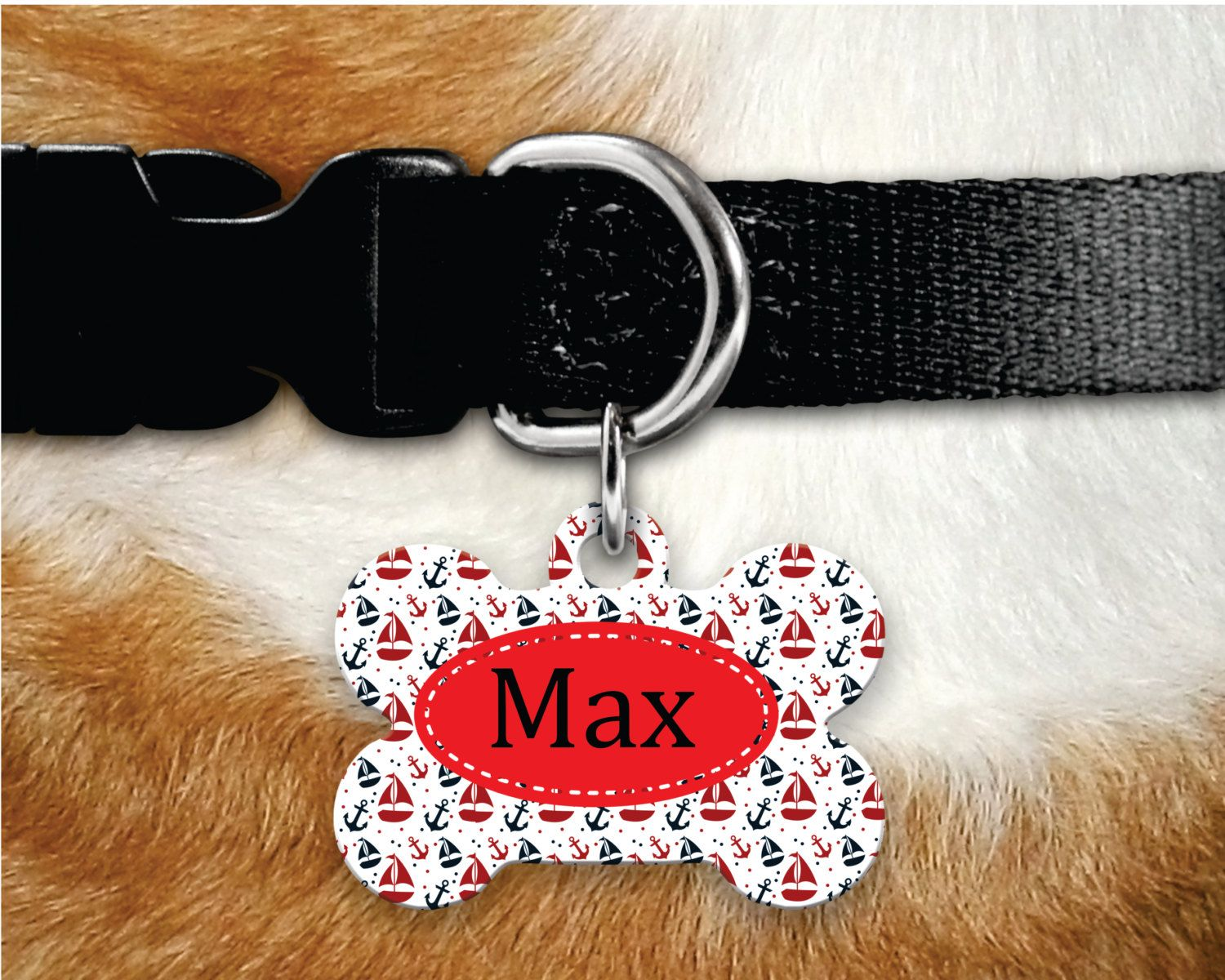 Personalized Dog Tag - Dog ID Tag - Personalized Bone Dog Tag - Custom Pet ID Tag- Nautical Pet Tag- Sailor Pet Tag- Dog Tags For dogs\ by MysticCustomDesignCo on Etsy