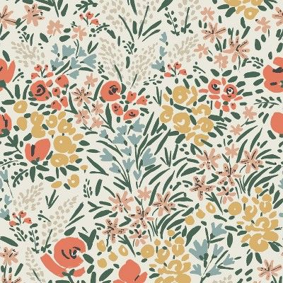Storage Ottomans Cream Floral - Threshold