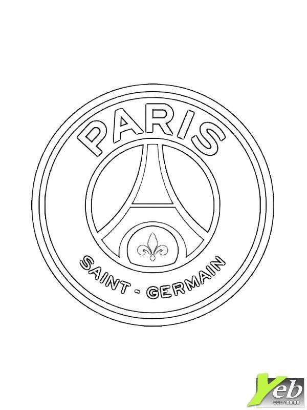 coloriage  logo du paris saint germain  dans la