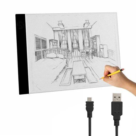 Tracing Light Box A4 Ultra Thin Portable Led Light Box Tracer Usb Power Cable Artcraft Tracing Light Pad For Diamond Animated Drawings Drawing Artist Sketches