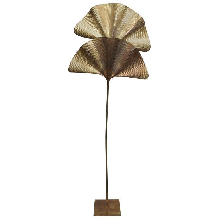 Mid Century Brass Floor Lamp By Tommaso Barbi 1stdibs Com