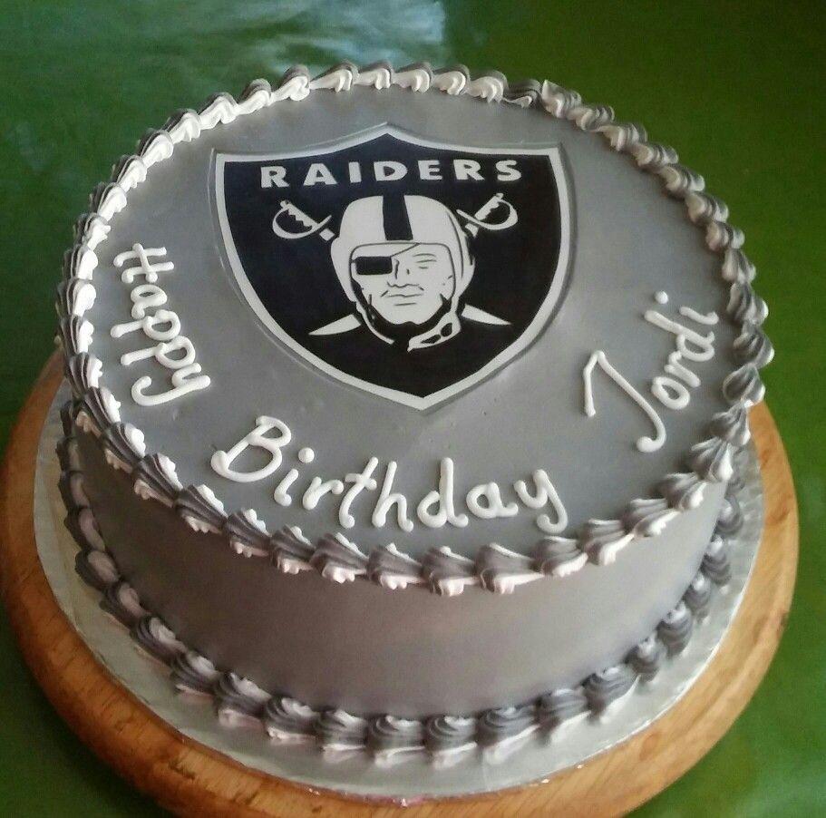 Raiders Birthday Cake Mis Creaciones Pinterest Raiders