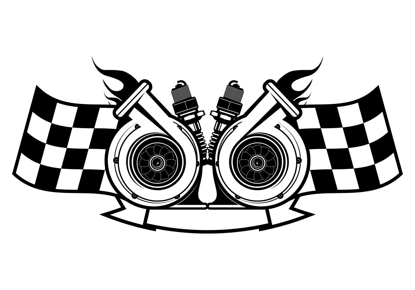 Download Turbocharger Racing Logo Template Desain Logo Otomotif Gambar Png