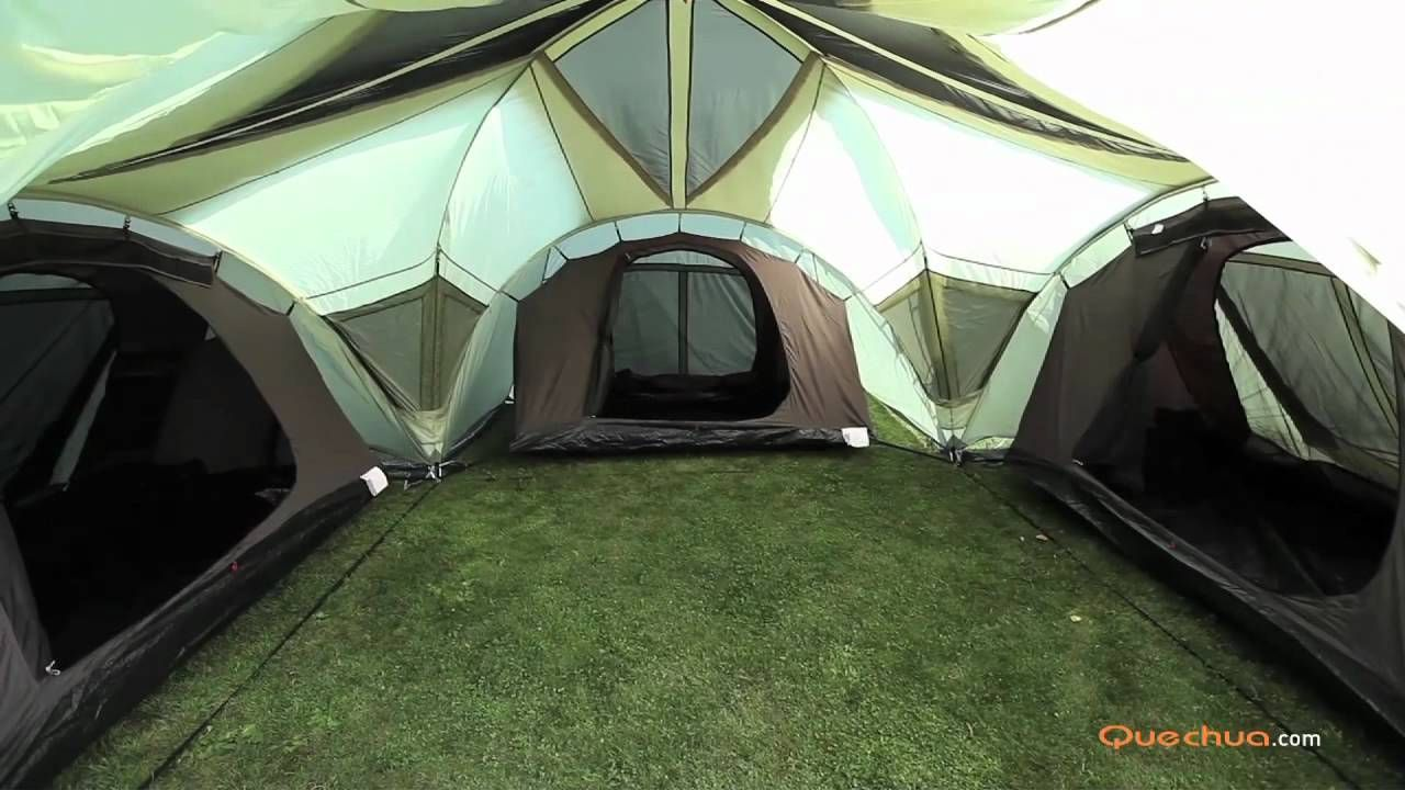 Quechua setup tent t6 3 xl air installation tente t6 3 - Tente 4 places 2 chambres seconds family 4 2 xl quechua ...